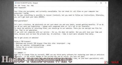 Hades ransomware