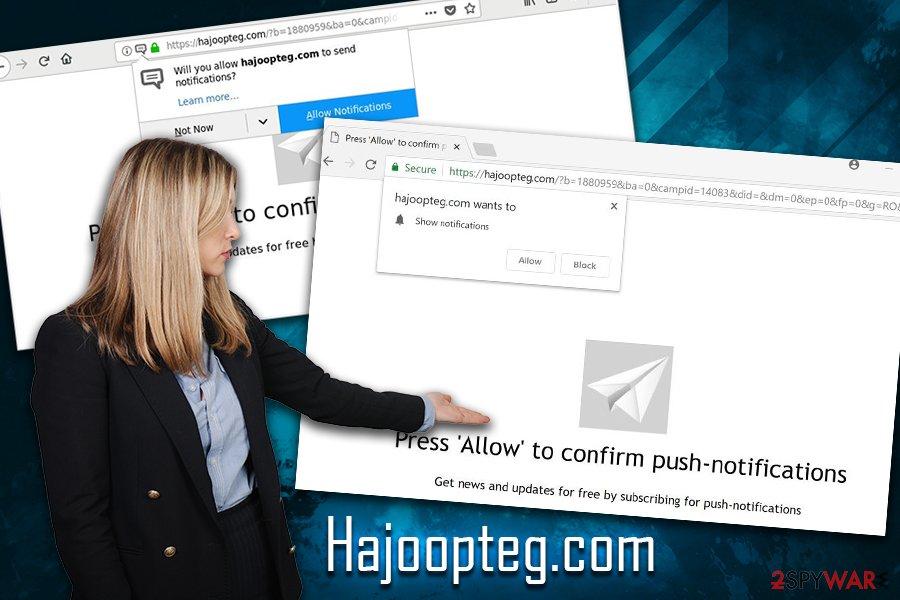 Hajoopteg.com virus
