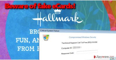 Hallmark eCard Tech Support scam virus
