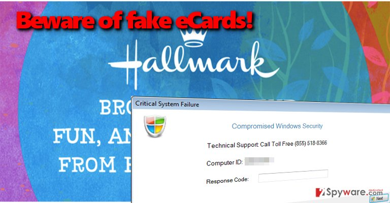 Hallmark eCard Tech Support scam virus spreads in a form of fake eCards