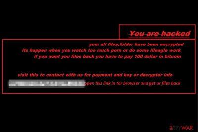 Halloware ransomware wallpaper