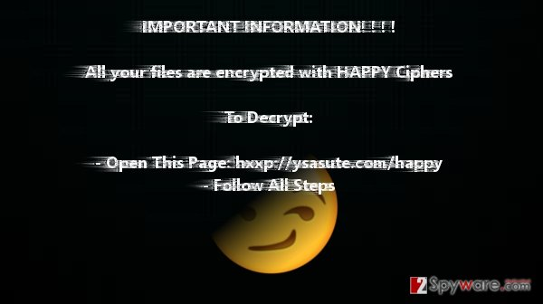 The ransom note of Happy Locker