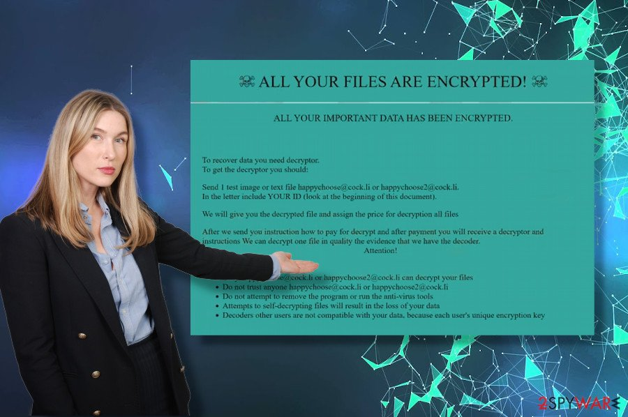 Happychoose ransomware virus information