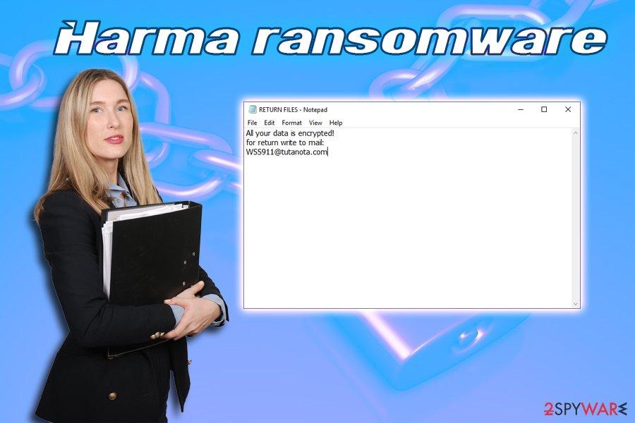 Harma ransomware virus