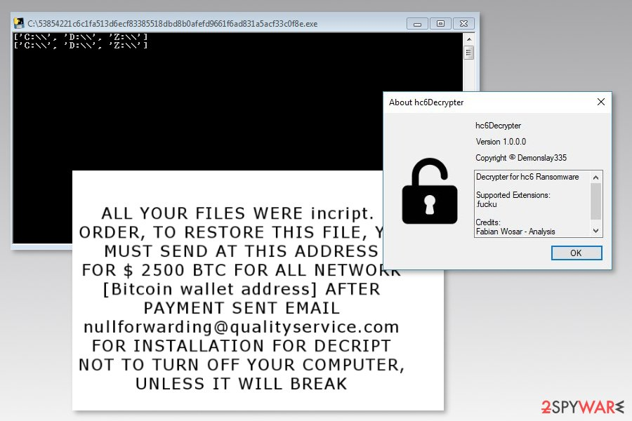 Image of hc6 ransomware