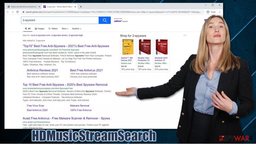 HDMusicStreamSearch hijack