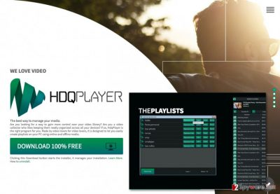 An image of HDQPlayer official download website