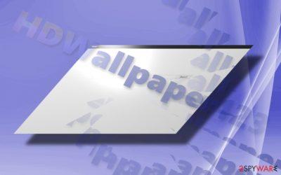 The image showing HDWallpaper123.com hijacker