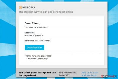 Here Is Your Fax Email virus image