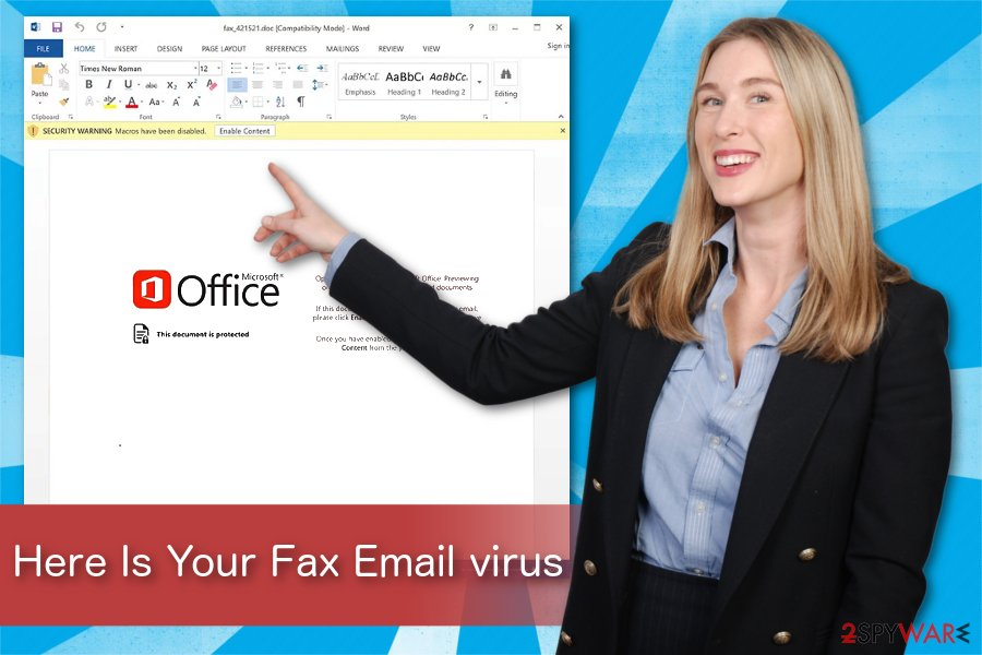 Here Is Your Fax Email virus illustration