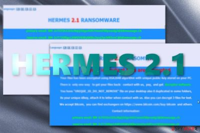 The ransom note by Hermes 2.1 ransomware
