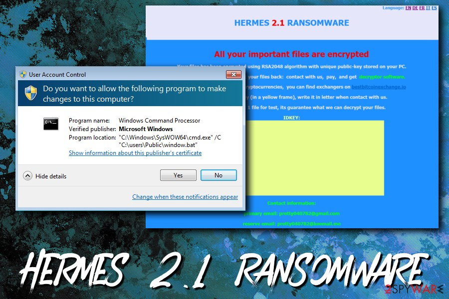 Hermes ransomware versions