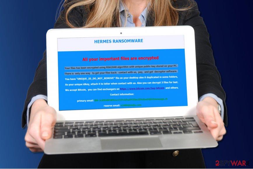 Hermes ransomware virus