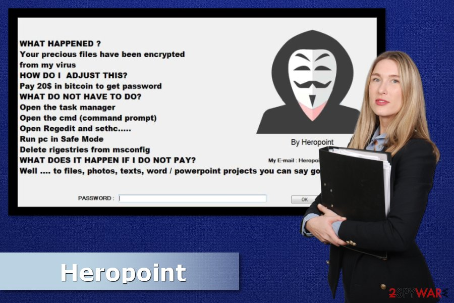 Example of Heropoint ransomware