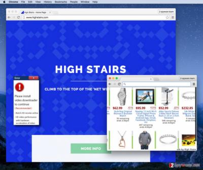 High Stairs virus screenshot