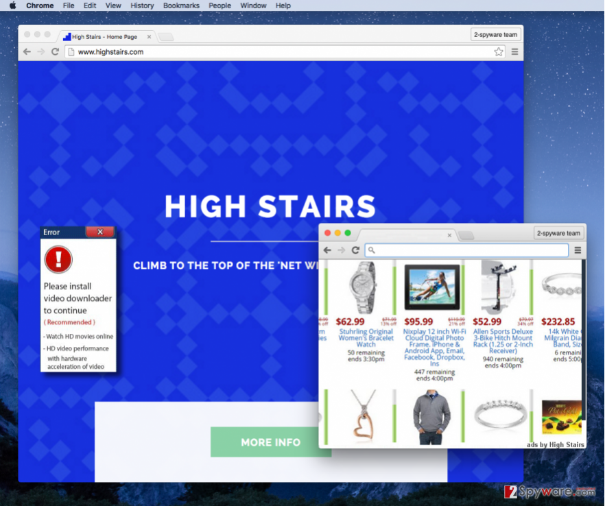 High Stairs virus screenshot