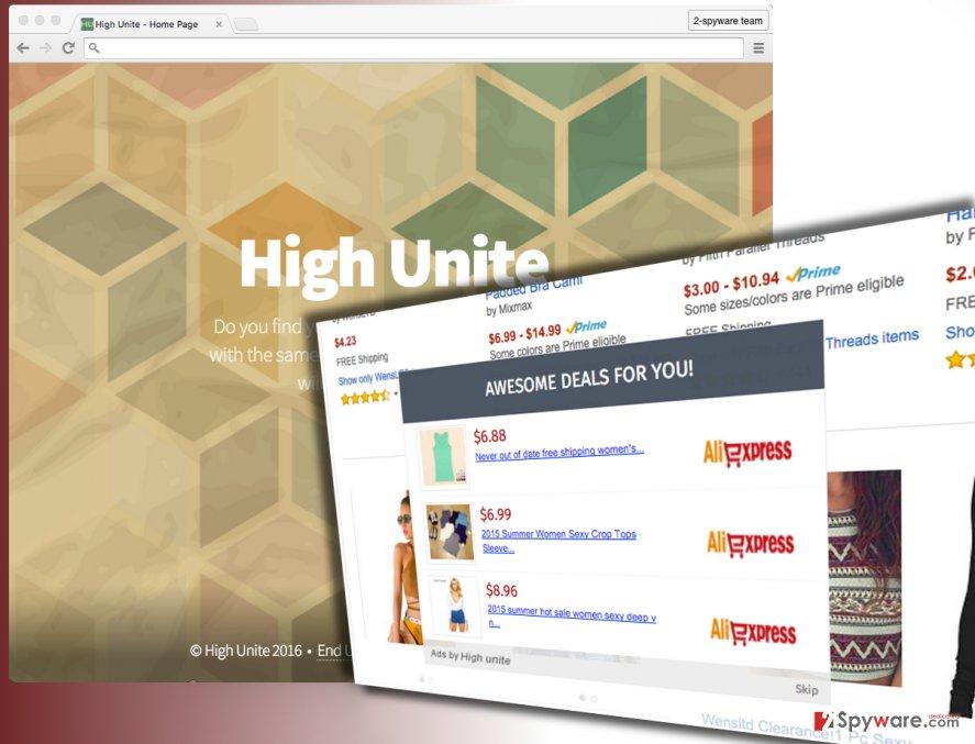 High Unite ads