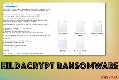 HildaCrypt ransomware