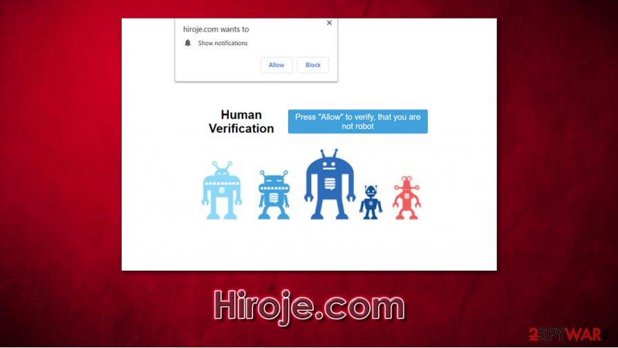 Hiroje.com notifications