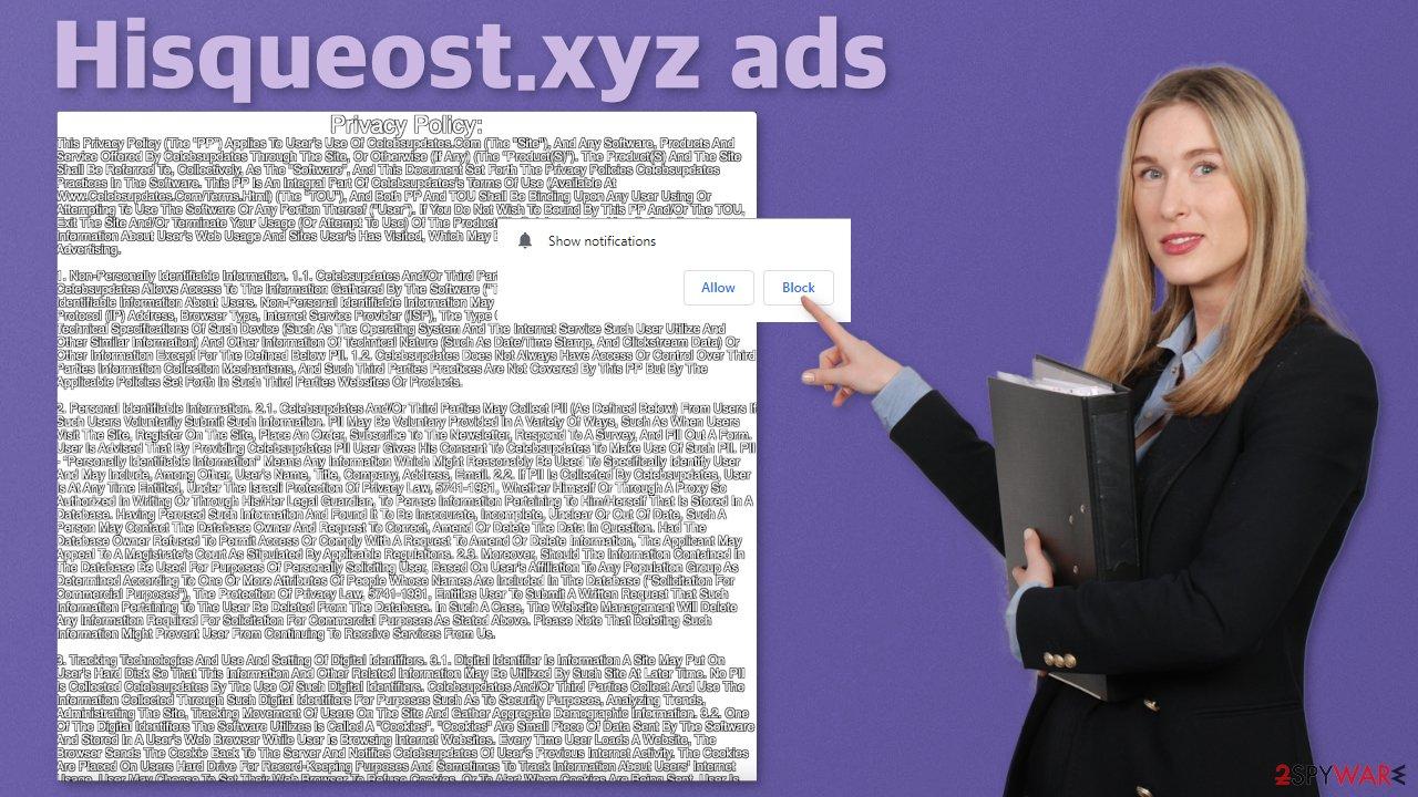 Hisqueost.xyz ads