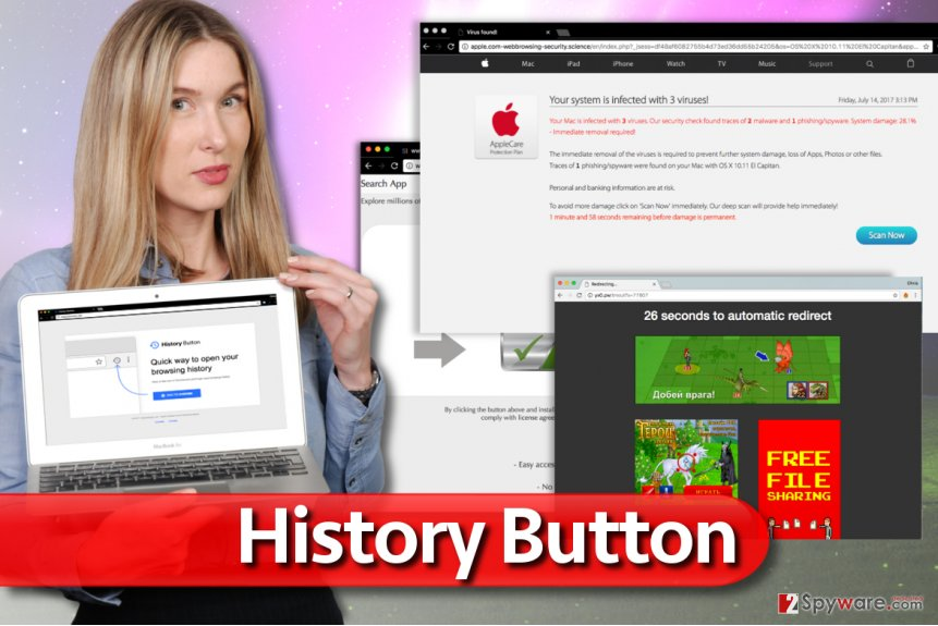 History Button extension