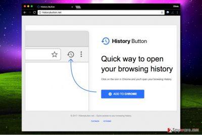 History Button virus