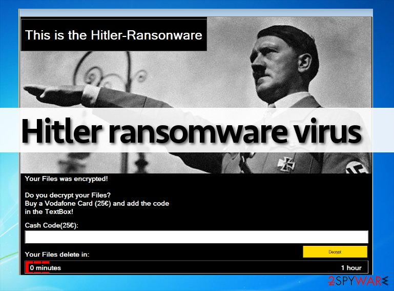 Hitler ransomware lock screen