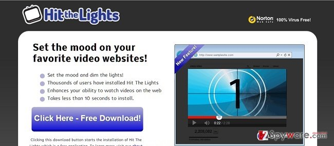 Hit The Lights adware snapshot