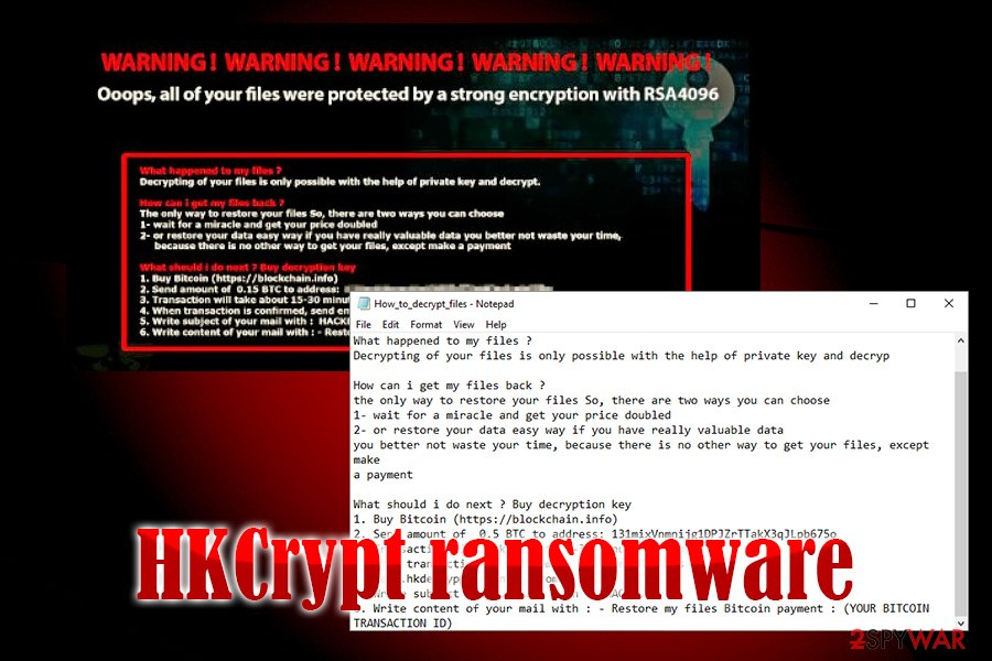 HKCrypt ransomware
