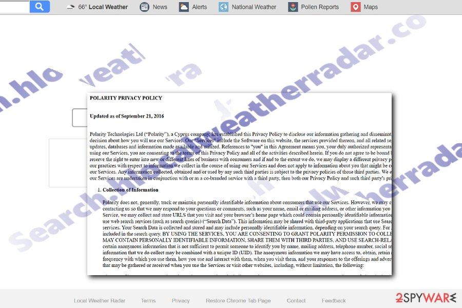 Search.hlocalweatherradar.co screenshot