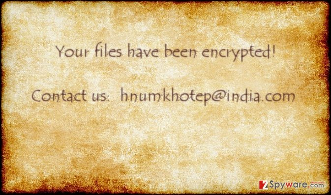 The image of hnumkhotpe@india.com virus