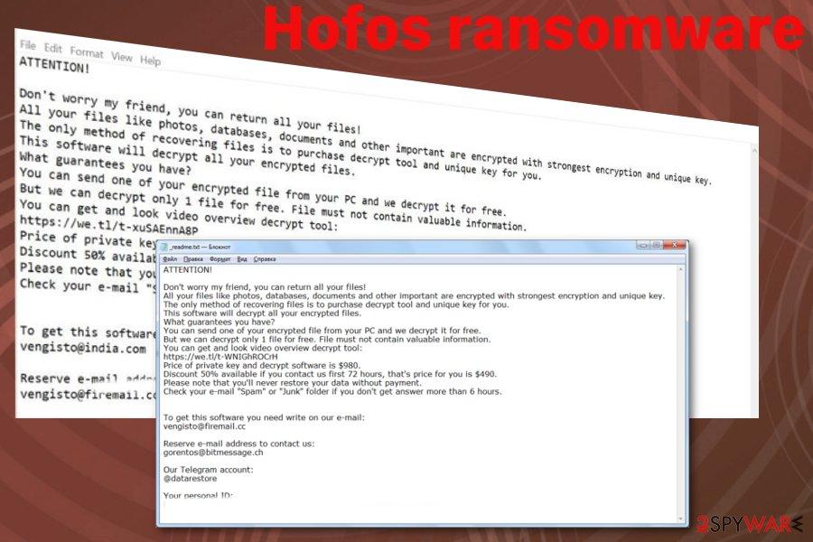 Hofos ransomware