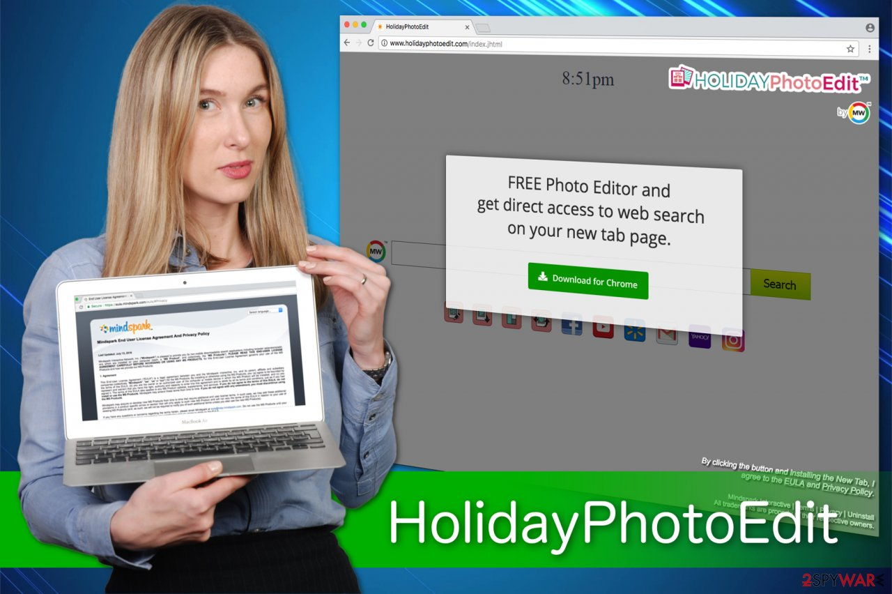 HolidayPhotoEdit generate ads while you surf the web