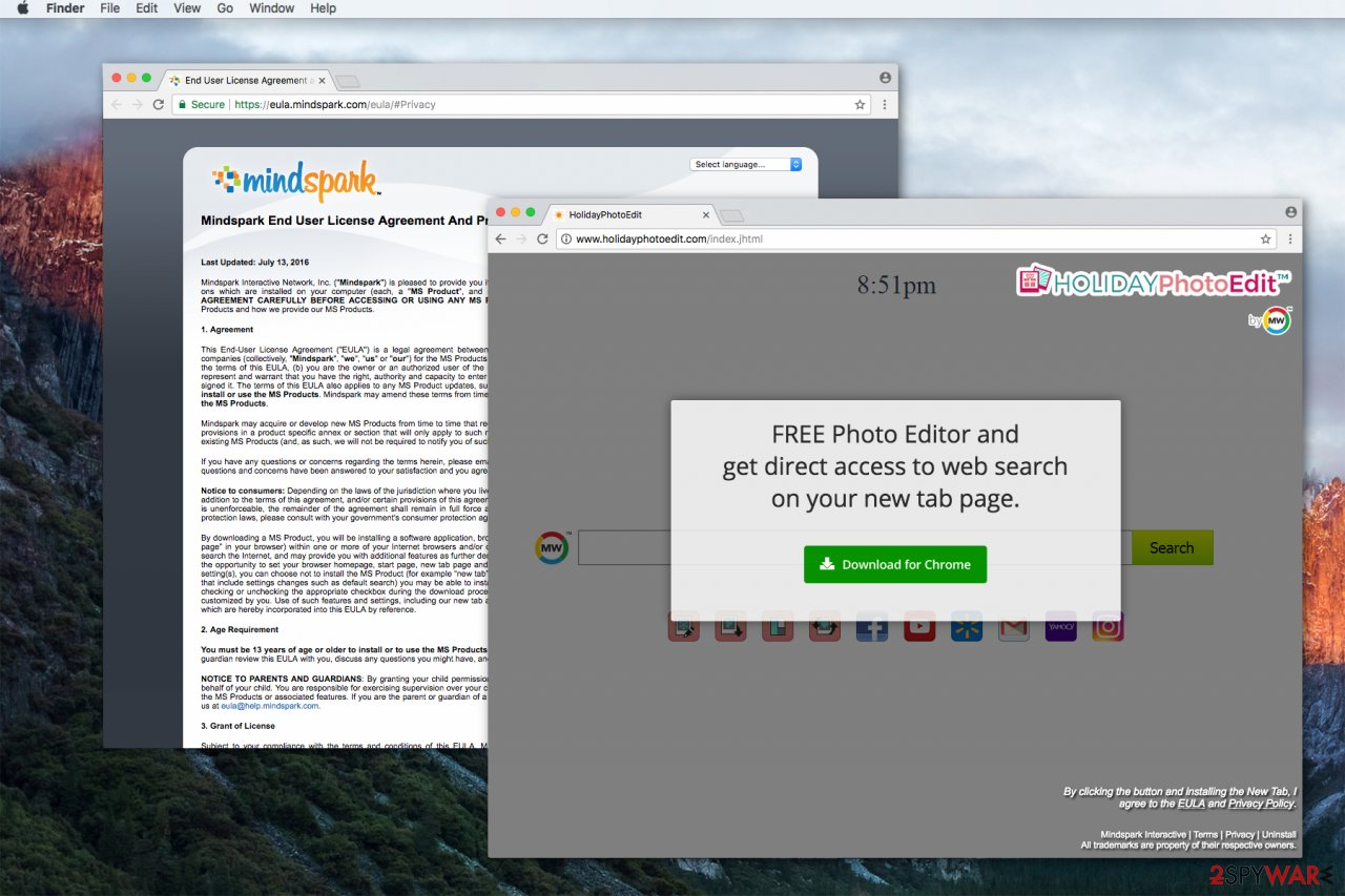 HolidayPhotoEdit toolbar might alter your homepage, new tab URL and default search engine