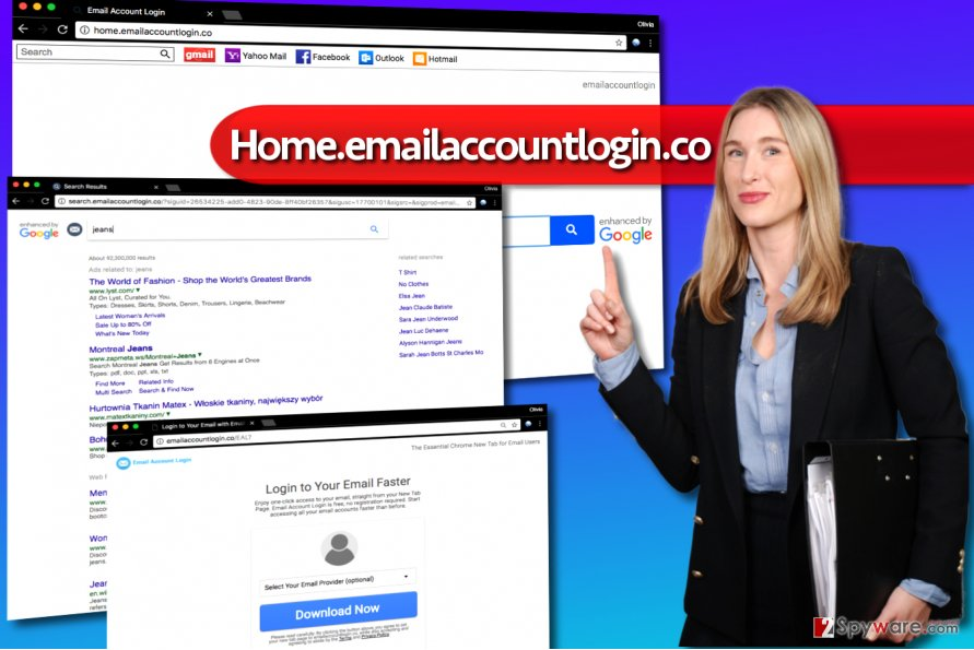 Home.emailaccountlogin.co redirect virus