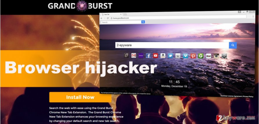 The picture of Home.grandburst.com virus