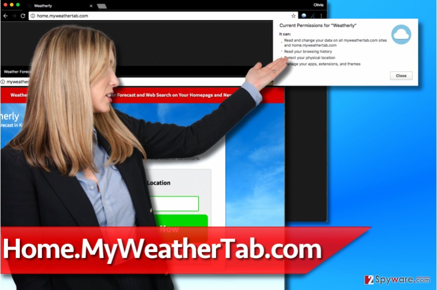Home.MyWeatherTab.com virus
