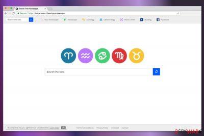 Screenshot of Home.searchfreehoroscope.com homepage