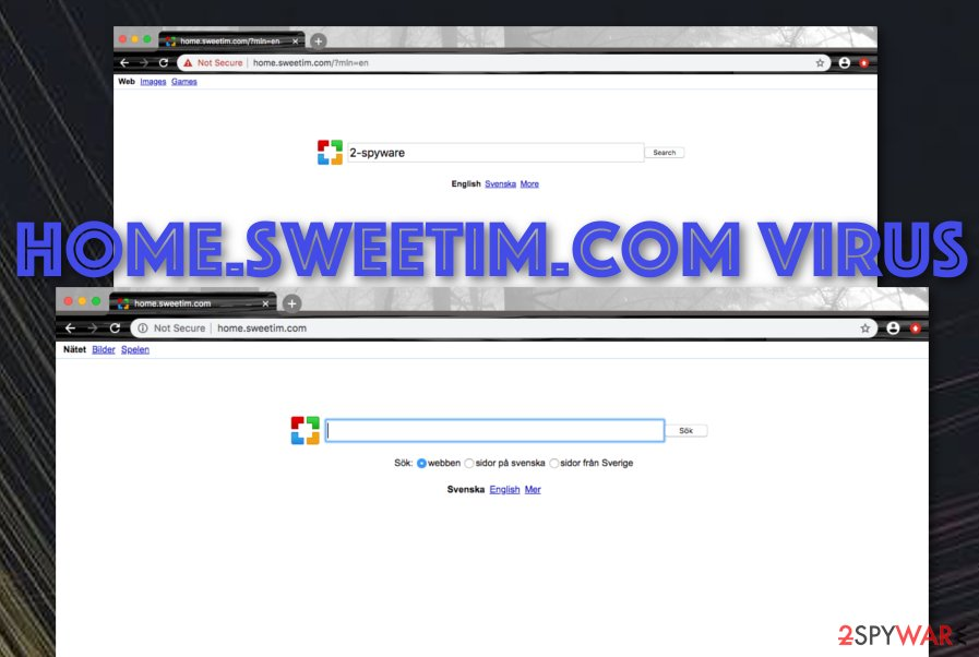 Home.sweetim.com potentially unwanted program