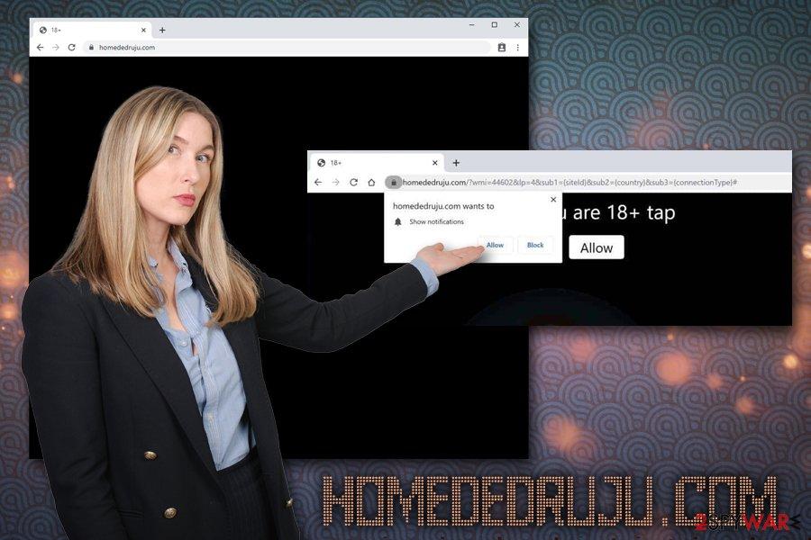 Homededruju.com adware