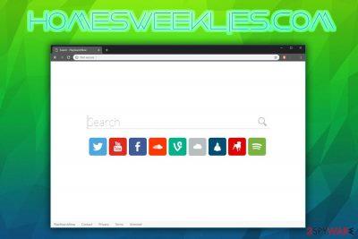 Homesweeklies.com browser hijacker