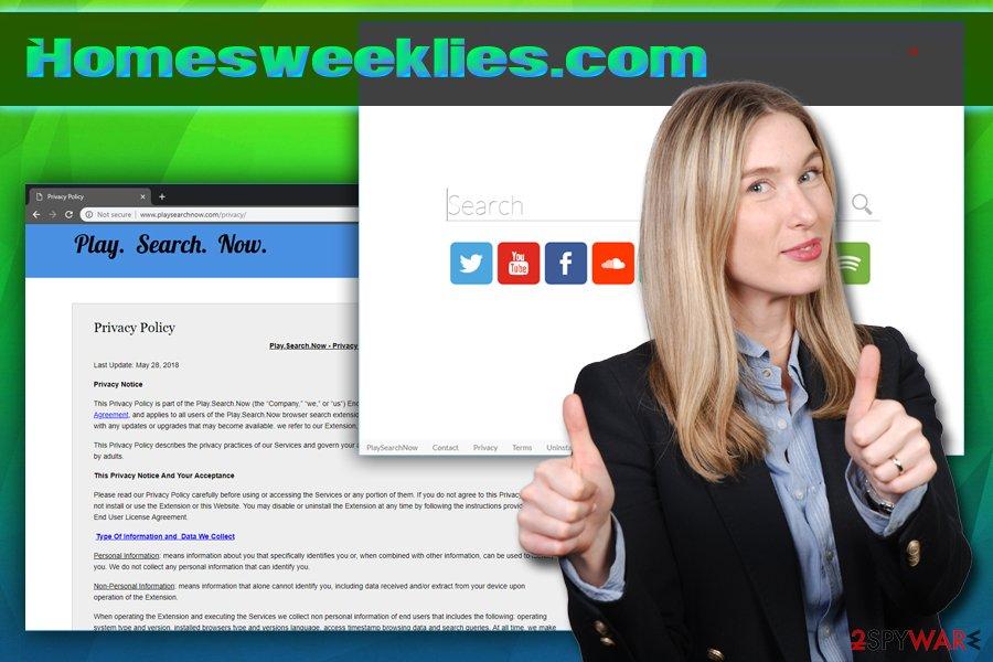 Homesweeklies.com virus