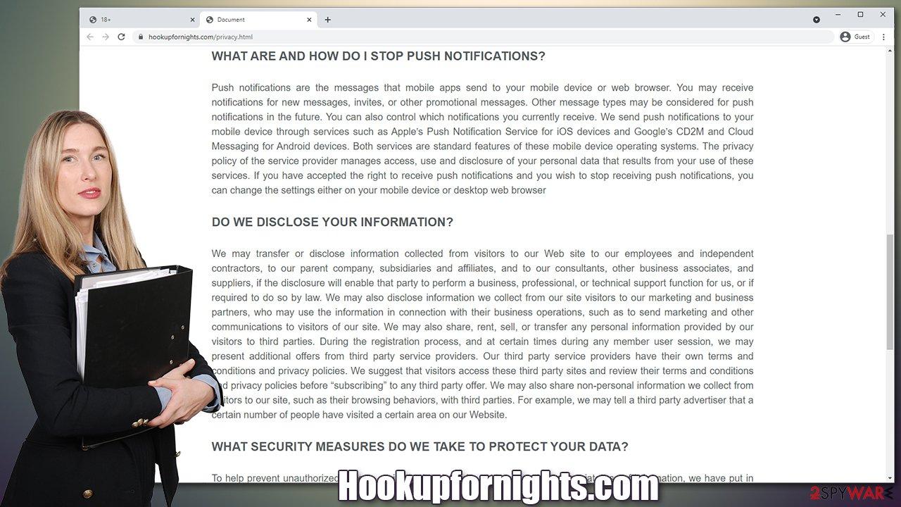 Hookupfornights.com virus