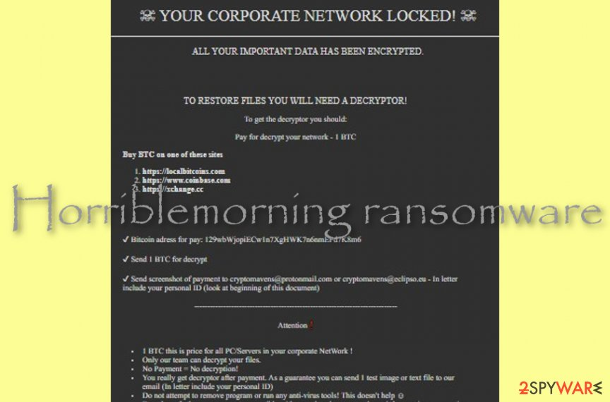 Horriblemorning ransomware