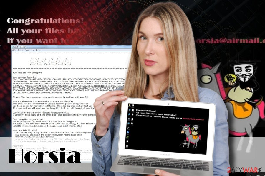 Horsia Ransomware virus attack