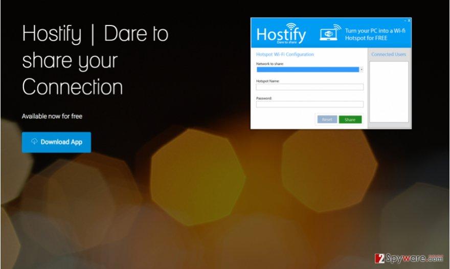 A screenshot of Hostify downlaod website