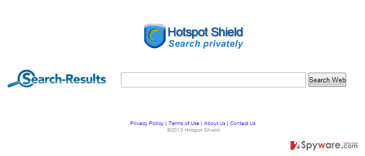 Hotspot Shield Toolbar snapshot