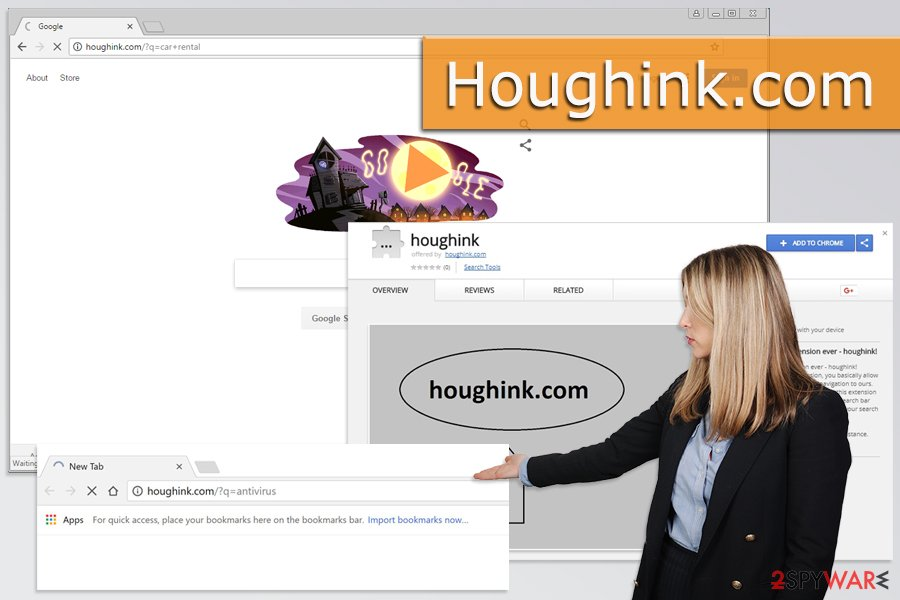 The image of Houghink.com virus