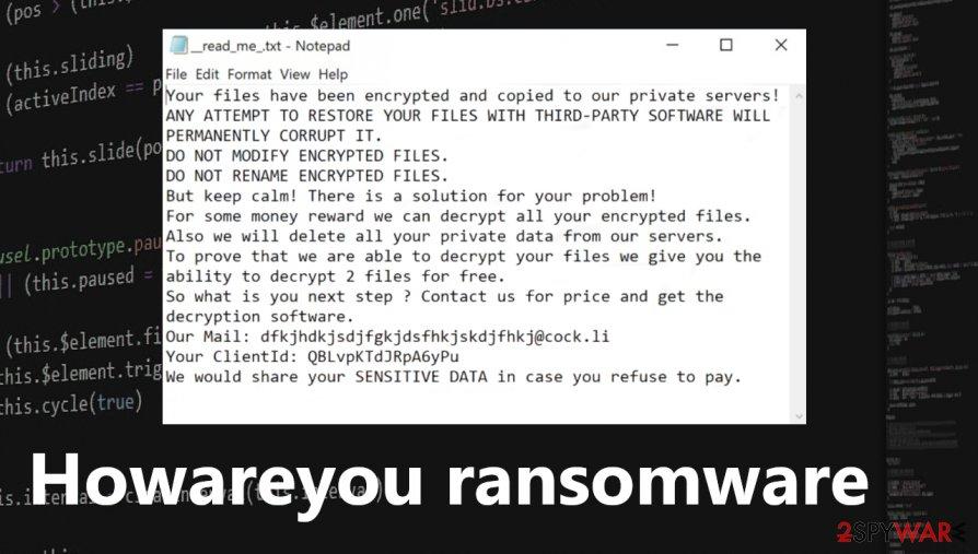 Howareyou ransomware