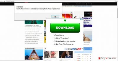 The image disclosing HPRewriter ads